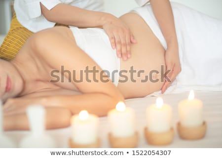 genç · boyun · masaj · adam · güzellik · dinlenmek - stok fotoğraf © ambro