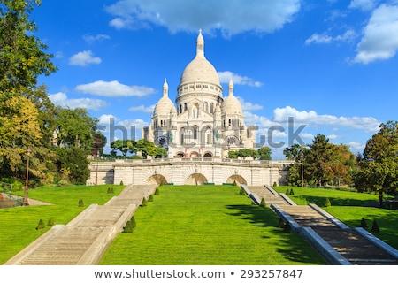 Bazilika Montmartre Párizs merő kék ég épület Stock fotó © ldambies
