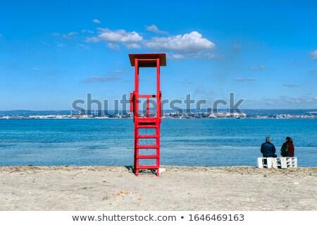redding · toren · illustratie · strand · natuur · zee - stockfoto © haraldmuc