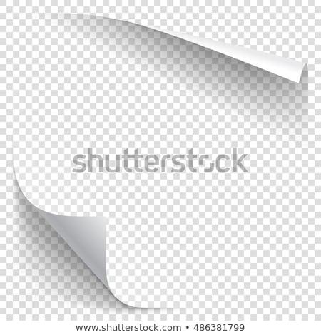 Carta rendering 3d blu bianco nota documento Foto d'archivio © SSilver