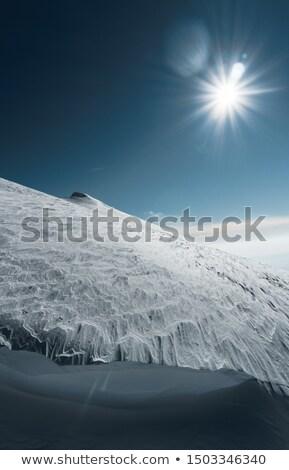 Sí központ szeles időjárás sport tájkép Stock fotó © kokimk
