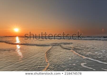 Kafa plaj fırtına yaz sağanak su Stok fotoğraf © saje