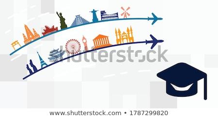 Estudar no exterior estudante grupo faculdade estudantes Foto stock © tangducminh