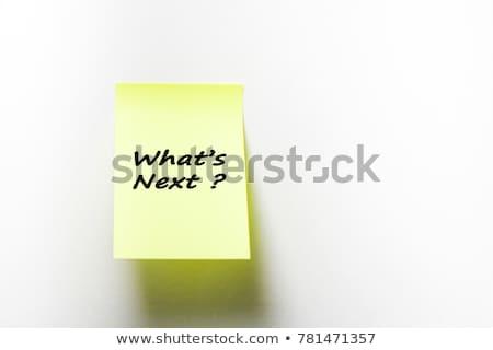 ne · yapışkan · not · yazılı · sarı · mantar - stok fotoğraf © ivelin