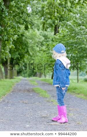 девочку весны аллеи девушки Сток-фото © phbcz