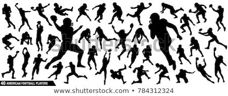 American football player vector Stock photo © krabata