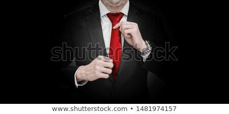 színes · izolált · fehér · divat · férfiak · kék - stock fotó © pongam