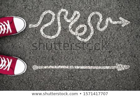 Moeilijk taai beslissingen business reis symbool Stockfoto © Lightsource