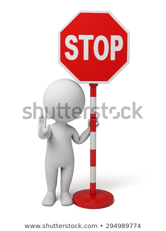 3d people with stop sign stock photo © quka