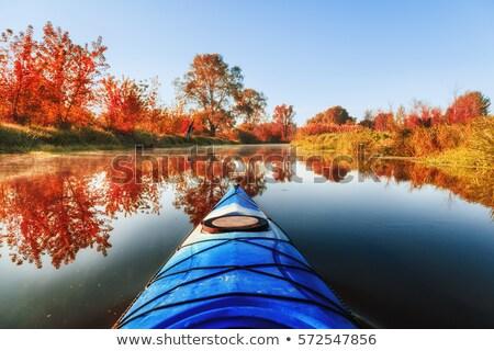 秋 2 湖 活気のある ストックフォト © Gordo25