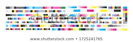 színes · bár · szett · fényes · tükröződés · fehér - stock fotó © make