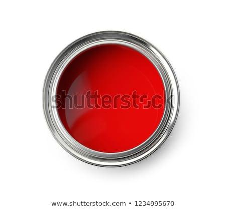 Konzervdoboz festék ház háttér munkás fehér Stock fotó © photography33