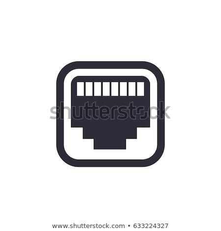ethernet · icon · afbeelding · netwerk · kabel · digitale - stockfoto © cteconsulting