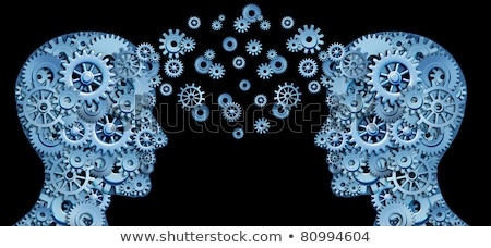 Cogs Head  Exchange	 Stock photo © 4designersart