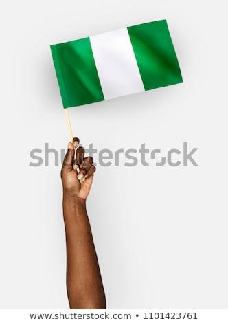 çeşitlilik bayrak siyah turuncu imzalamak Stok fotoğraf © snyfer