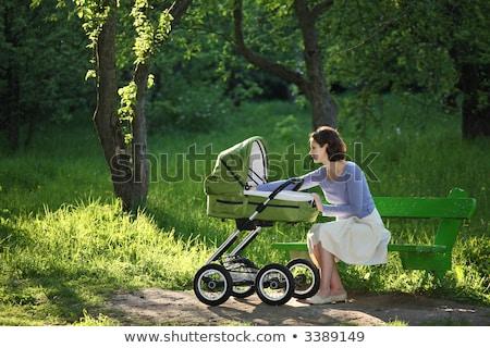 Genç bayan aile mutlu güzellik Stok fotoğraf © balasoiu
