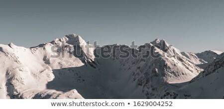 зима пейзаж подсветка снега синий флаг Сток-фото © pumujcl