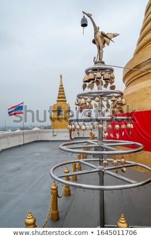 Thai zászló buddhista harang hagyományos kék Stock fotó © bbbar