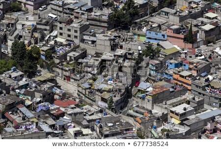 Мехико трущобы Top холме город зданий Сток-фото © jkraft5