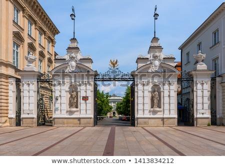 fő- · bejárat · kapu · kastély · épület · utazás - stock fotó © photocreo