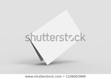 Blank white folding paper flyer. Stock photo © lenapix