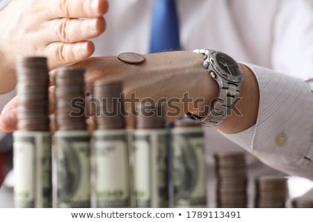 Para yol yüz dolar karanlık mavi Stok fotoğraf © grechka333