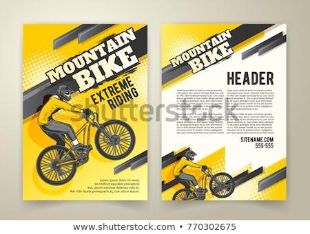 bicikli · bicikli · csatolmány · család · út · gyerekek - stock fotó © kariiika