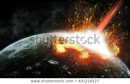 Flaming Asteroids on Earth Stock photo © Discovod