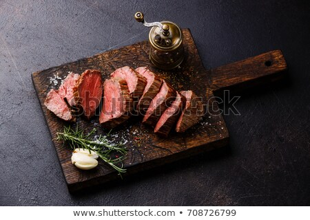 Boeuf steak poivre grill pan Photo stock © Stocksnapper