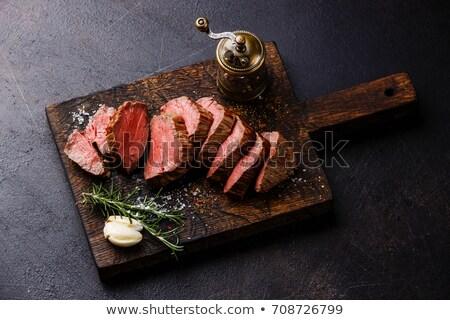 carne · filé · batata · fresco · salada · comida - foto stock © stocksnapper