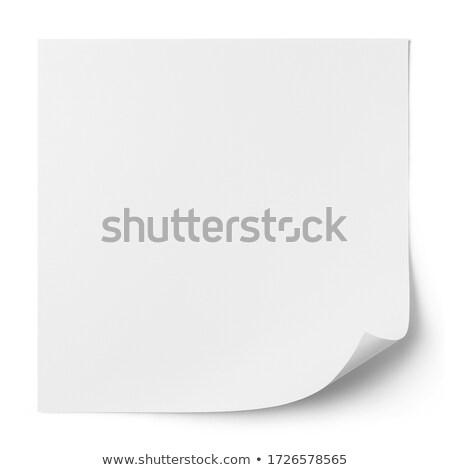 White curled paper page corner template. Stock photo © tuulijumala