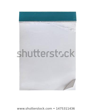 fehér · papír · tép · el · izolált · üzlet - stock fotó © w20er