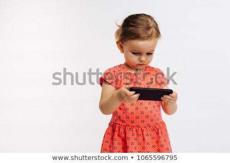 мало ребенка ячейку полный изолированный студию Сток-фото © prg0383