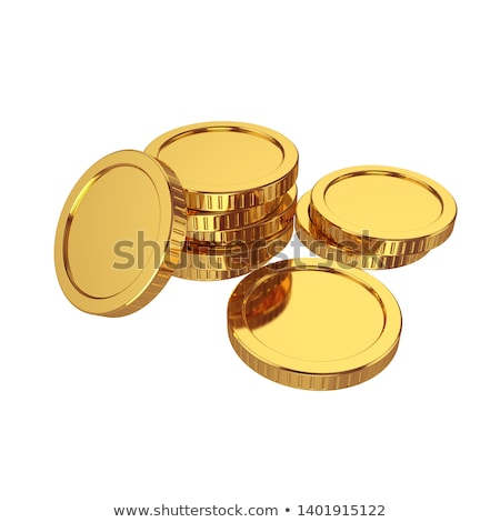 many gold dollar coins 3d rendering stock photo © cherezoff