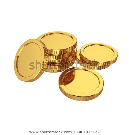 Muchos oro dólar monedas 3D Foto stock © cherezoff