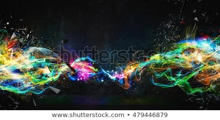 kleurrijk · disco · spiegel · bal · lichten · nachtclub - stockfoto © deyangeorgiev