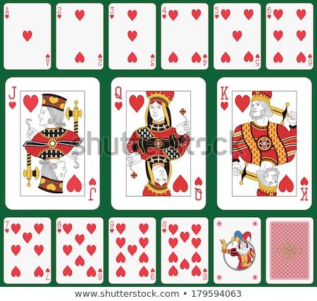 удвоится королевский сердце игральных карт два различный Сток-фото © mannaggia