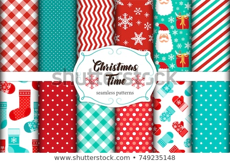 Cute Christmas background, scrap papers Stock photo © marimorena