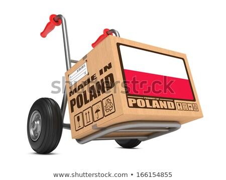 Polônia mão caminhão bandeira slogan Foto stock © tashatuvango