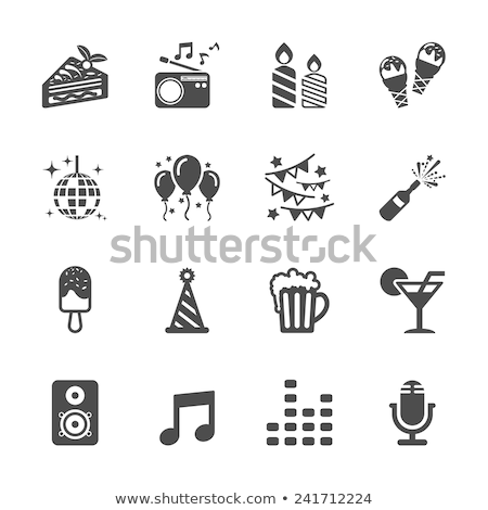 vector party icons set 2 stock photo © dashadima