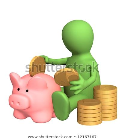 kéz · Euro · persely · izolált · fehér · pénz - stock fotó © compuinfoto