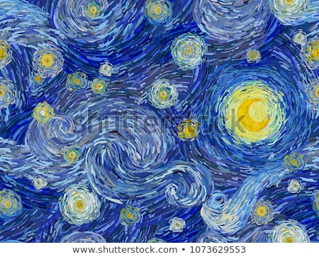 Noche ilustración oscuro cielo azul muchos Foto stock © fresh_7266481