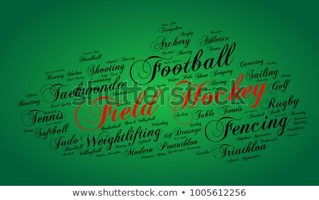 waterpolo word cloud with green wordings Stock photo © seiksoon