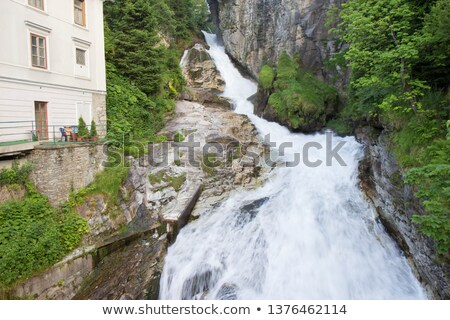 Waterfall and rocks in the Austrian Alps Stock photo © w20er