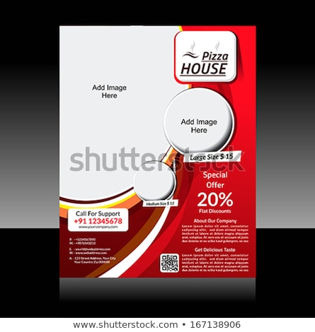 Pizza store flyer sjabloon internet ontwerp Stockfoto © rioillustrator