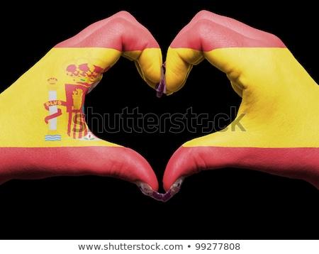 Spanyolország · zászló · szimbólum · épület · tánc · terv - stock fotó © krisdog
