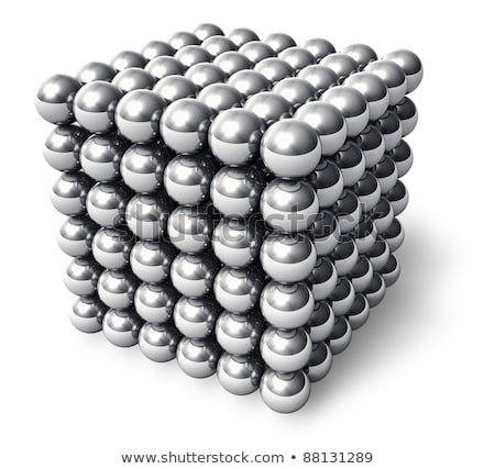 Cube of Magnetic Balls, Macro Stock photo © jackethead
