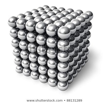 kubus · magnetisch · macro · groep · bal - stockfoto © jackethead