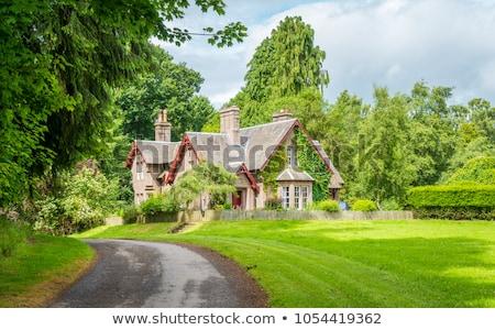 Italiaans tuin kasteel Schotland plant Stockfoto © phbcz