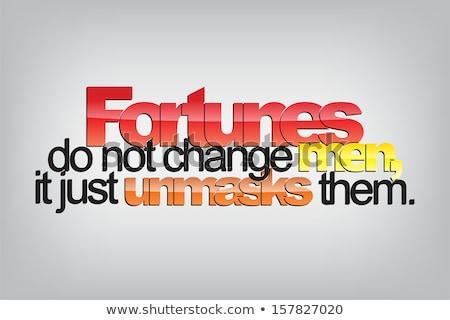fortunes do not change men stock photo © maxmitzu